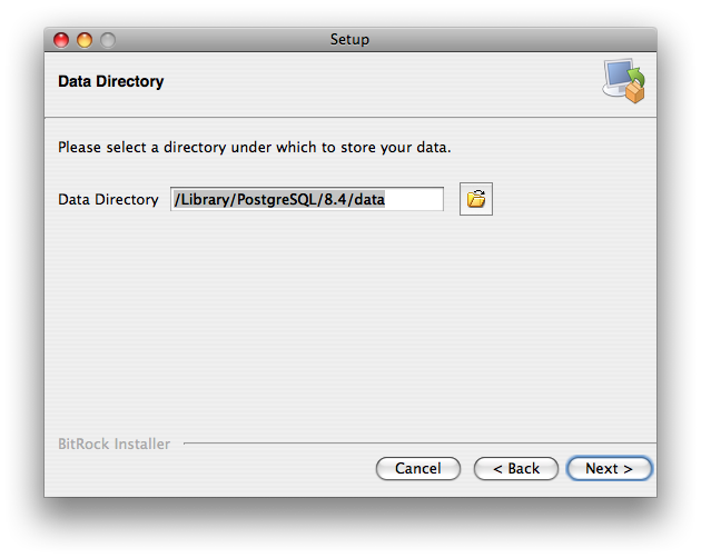 Data Directory page