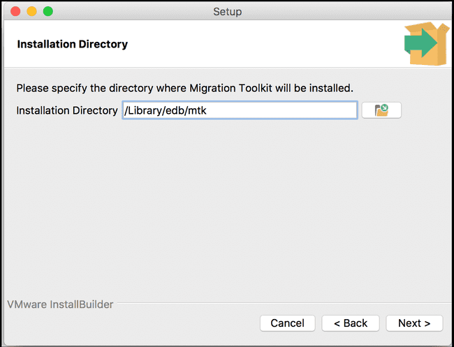 Specify a Migration Toolkit installation directory.