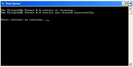 Postgres Plus started successfully in Windows