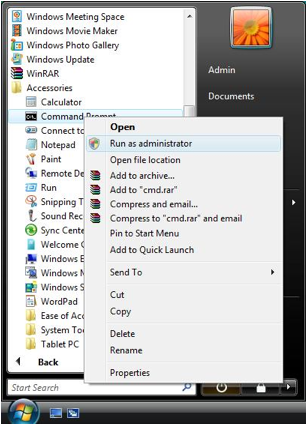 Run Command Prompt as Windows Administrator