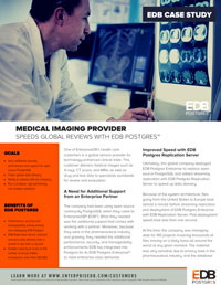 Medical Imaging Provider Speeds Global Reviews with EDB Postgres Cover