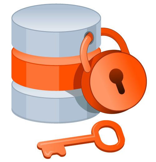 Graphic database with a lock on it