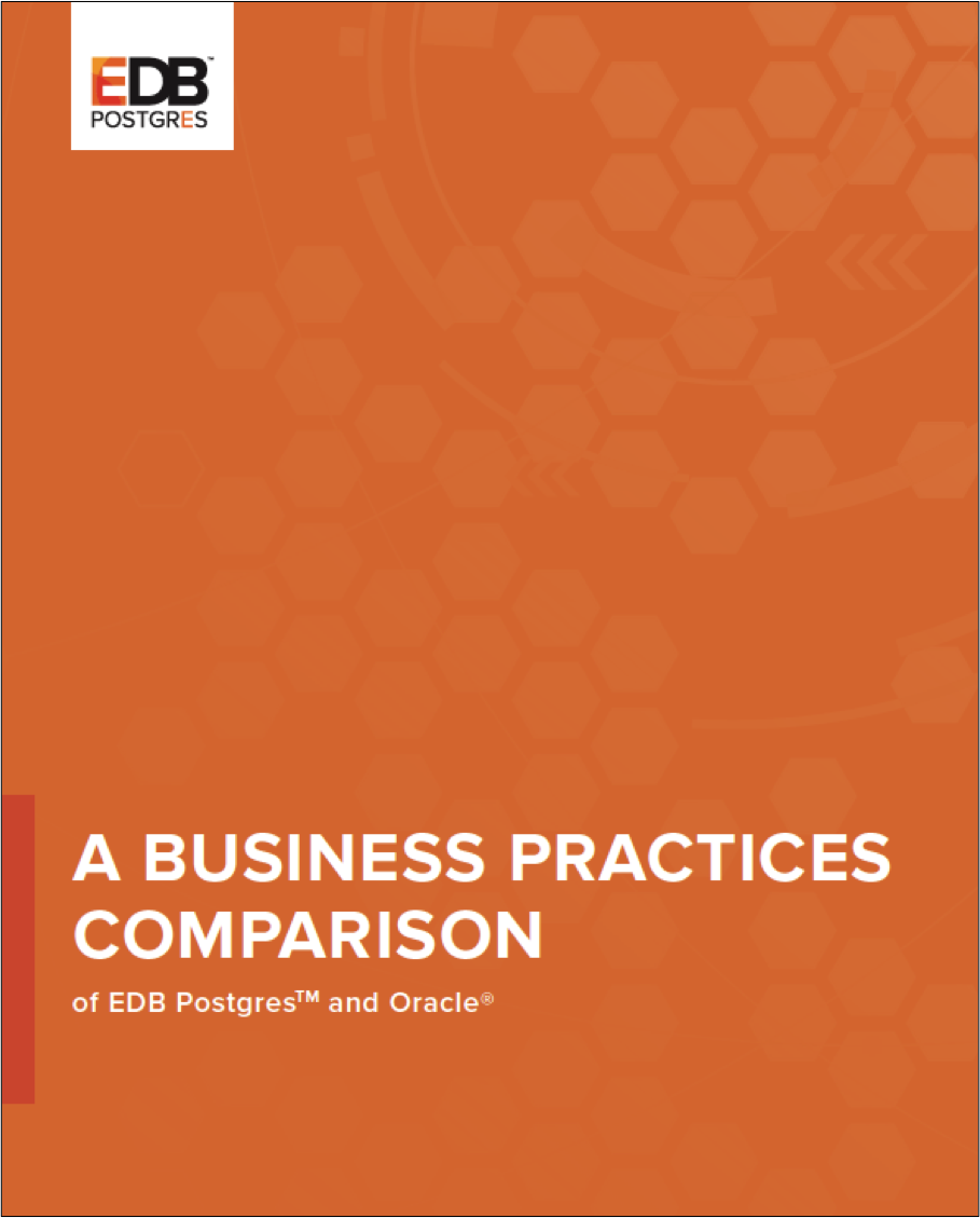 A Business Practices Comparison of EDB and Oracle