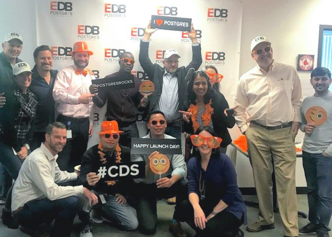 Photo of a group of EDB employees