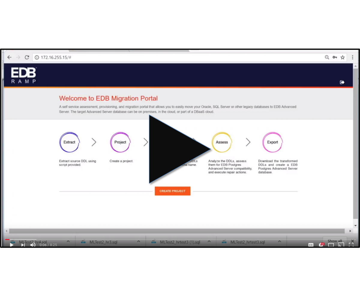 Click to view a demo of the migration portal