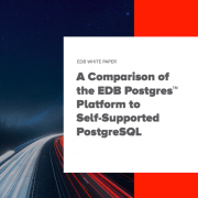 Comparison of EDB vs PostgreSQL White Paper thumbnail picture