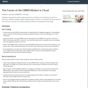Preview of the Gartner Report: The Future of DBMS Market is Cloud