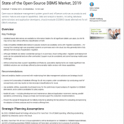 Gartner State of the Open Source DBMS Market Report Thumbnail