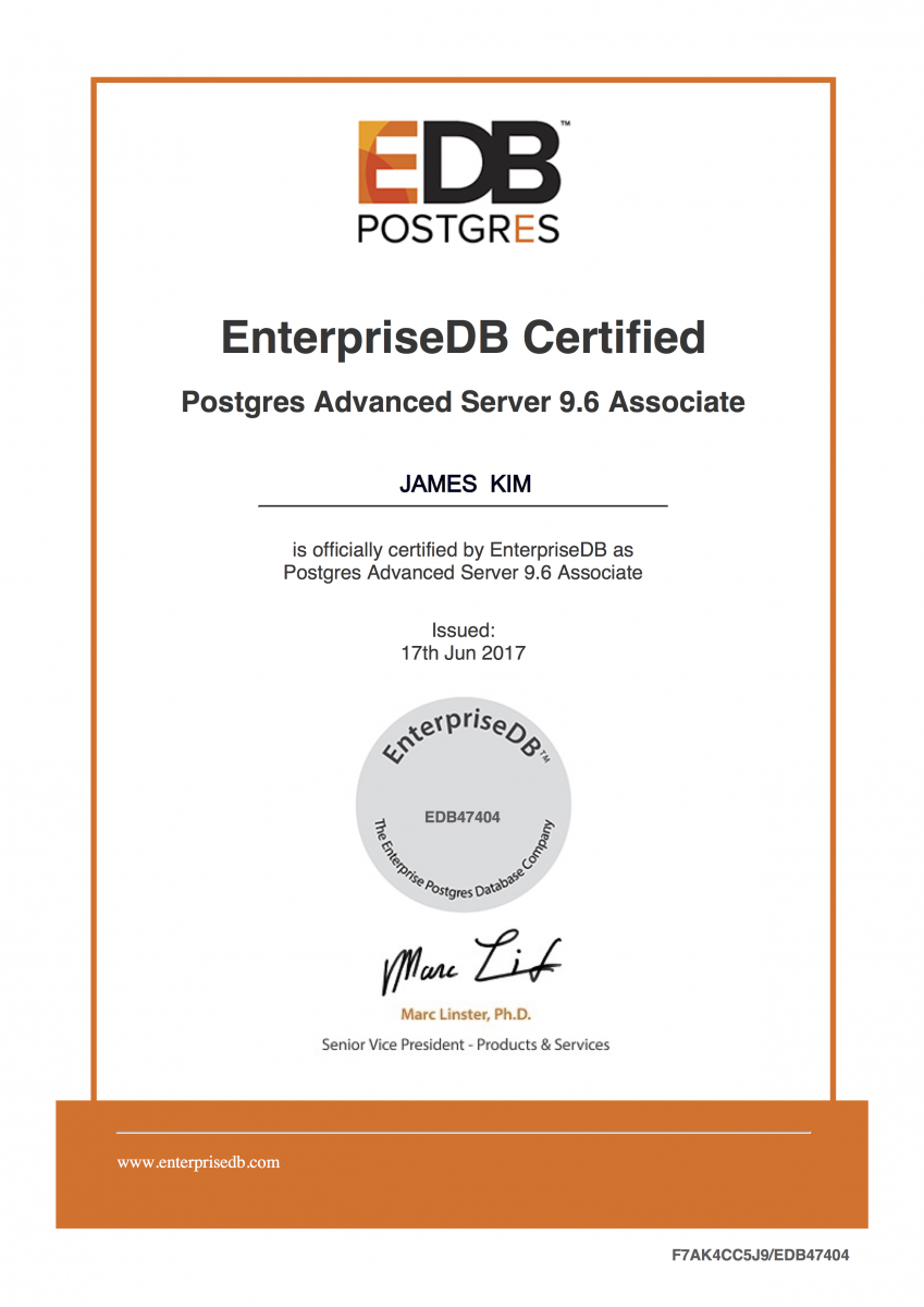 Postgres certification enterprisedb get certified earn your badge xflitez Gallery